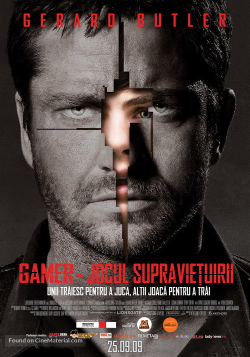 Gamer - Romanian Movie Poster