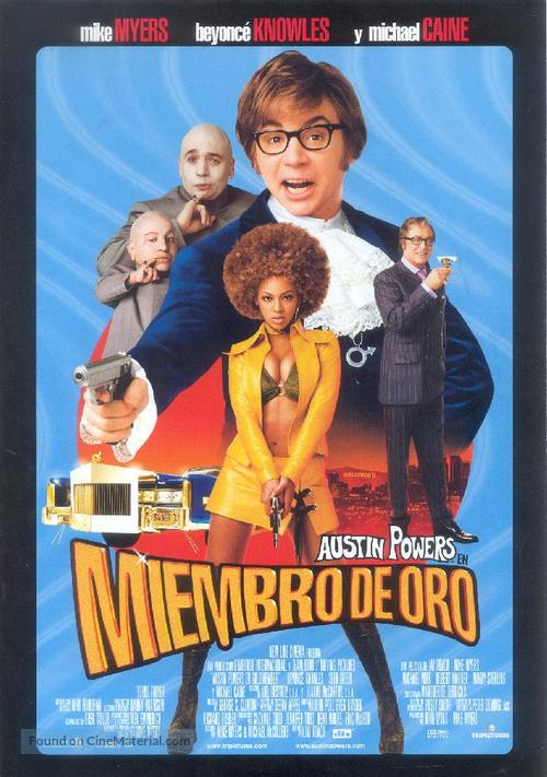 Austin Powers in Goldmember - Spanish Movie Poster