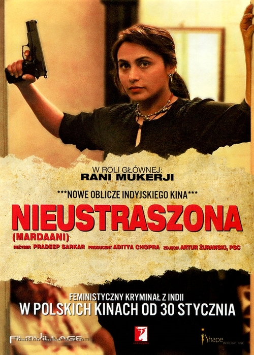 Mardaani 2014 Polish Movie Poster