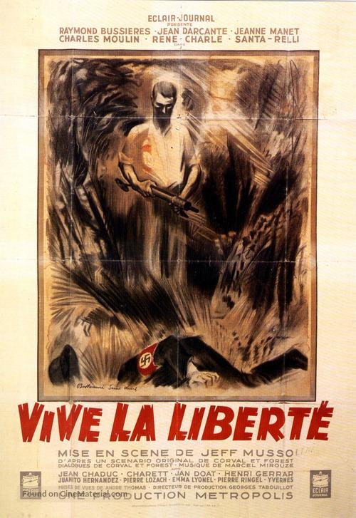 Vive la libertè - French Movie Poster