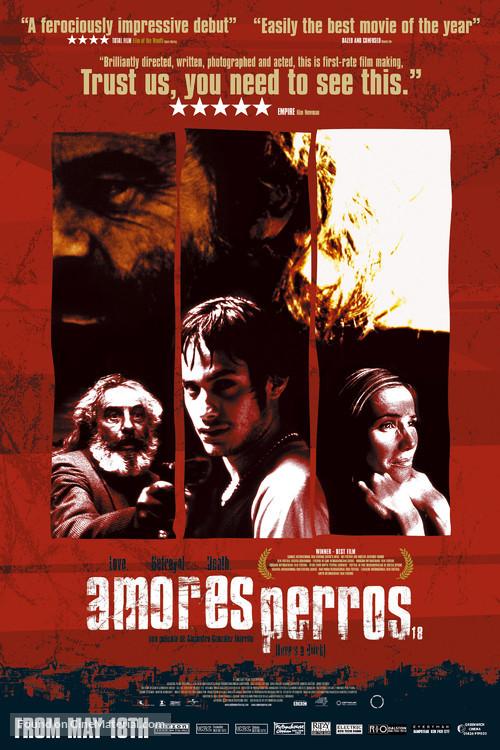 Amores Perros - British Movie Poster