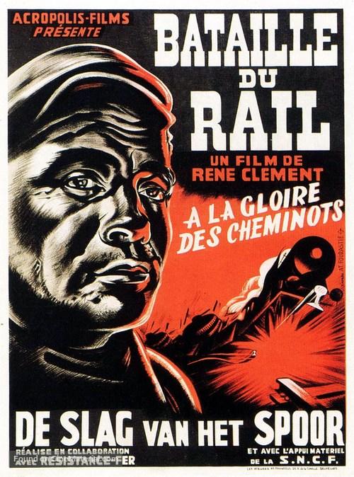 La bataille du rail - Belgian Movie Poster