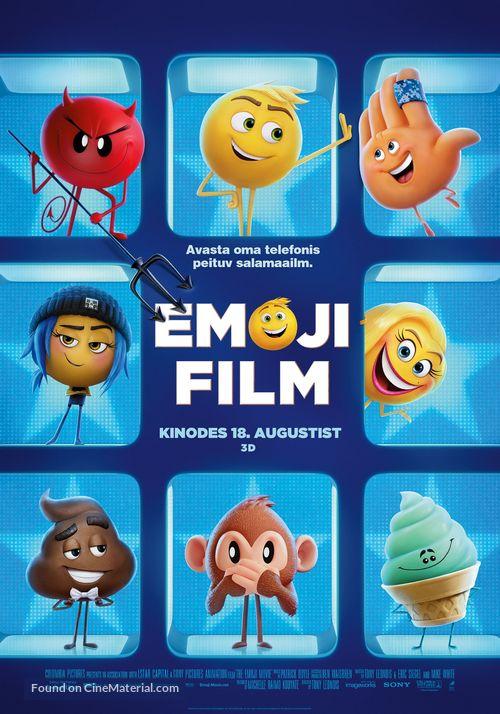 The Emoji Movie - Estonian Movie Poster