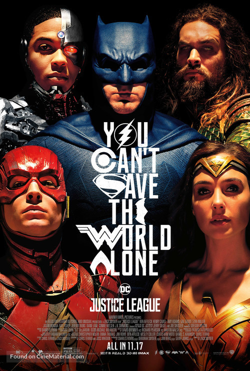 Justice League - Theatrical movie poster
