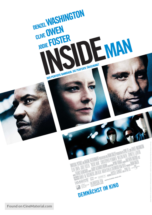 Inside Man - German Movie Poster