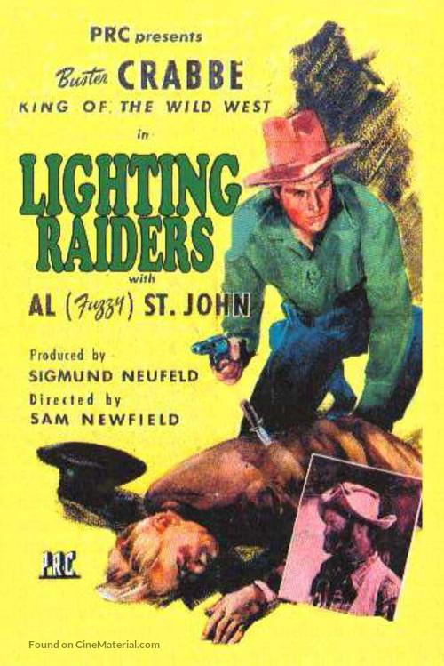 Lightning Raiders - Re-release movie poster
