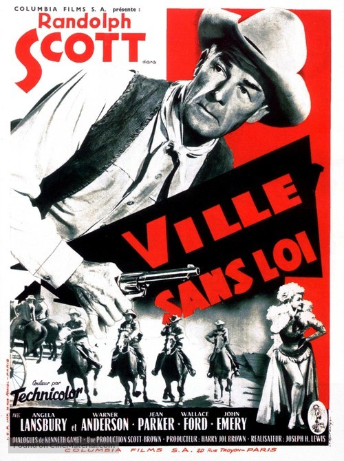 A Lawless Street - French Movie Poster