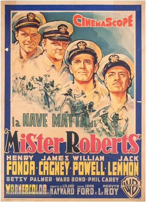 Mister Roberts - Italian Movie Poster