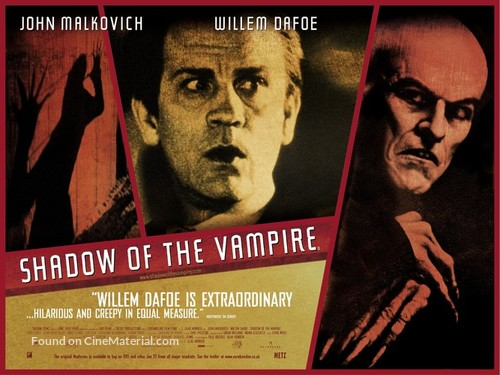 shadow of a vampire Shadow of the vampire review by amy s - there's definitely no film like this one completely unique.