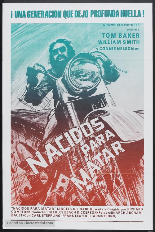Angels Die Hard - Argentinian Movie Poster