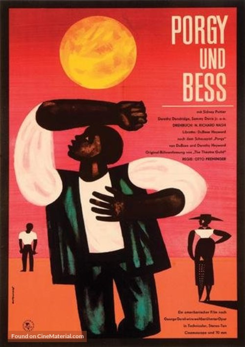Porgy and Bess - German Movie Poster