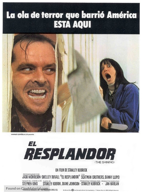 The Shining - Spanish Movie Poster