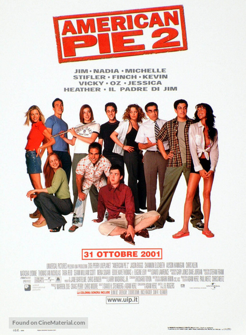 American Pie 2 - Italian Movie Poster