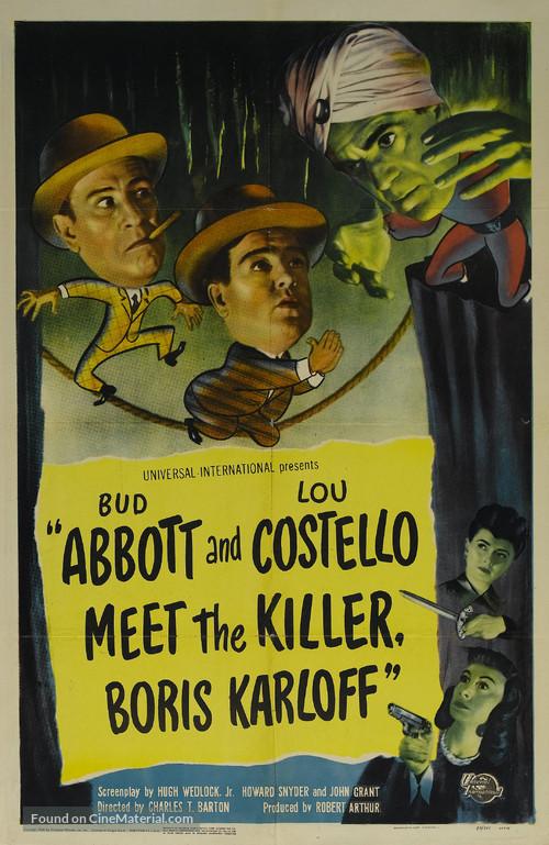 Abbott and Costello Meet the Killer, Boris Karloff - Movie Poster