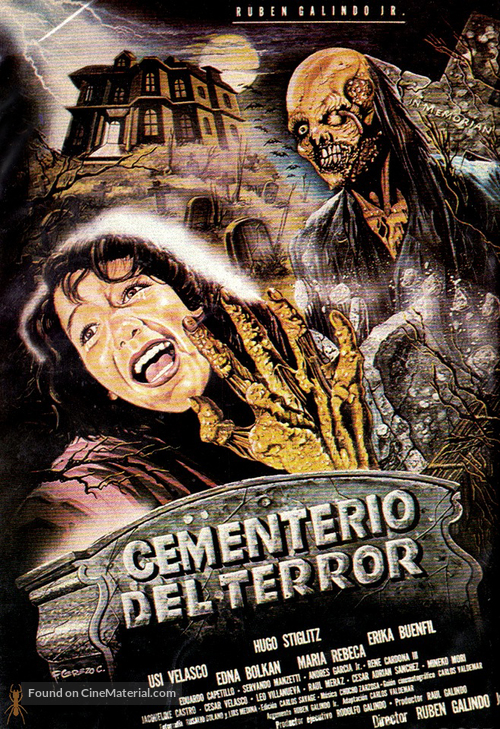 Cementerio del terror - Mexican Movie Poster