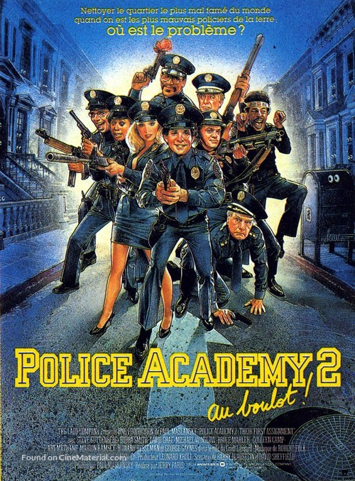 Police Academy 2: Their First Assignment - French Movie Poster