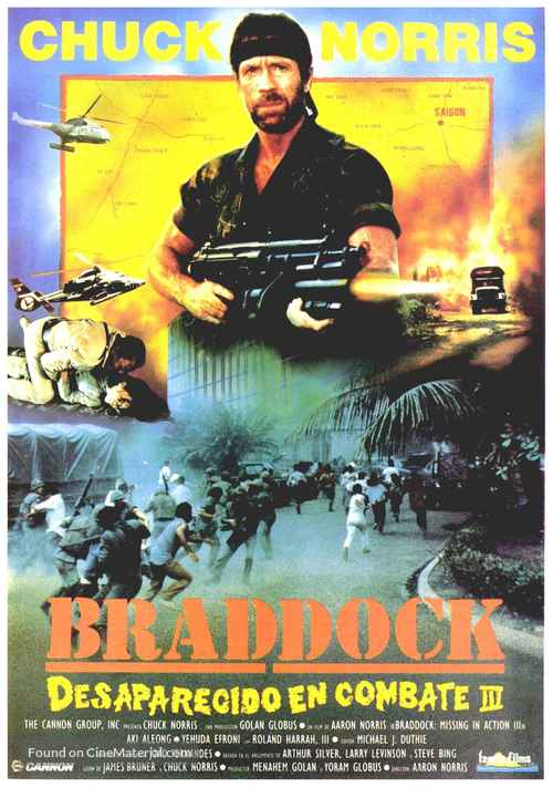 Braddock: Missing In Action III   Spanish Movie Poster