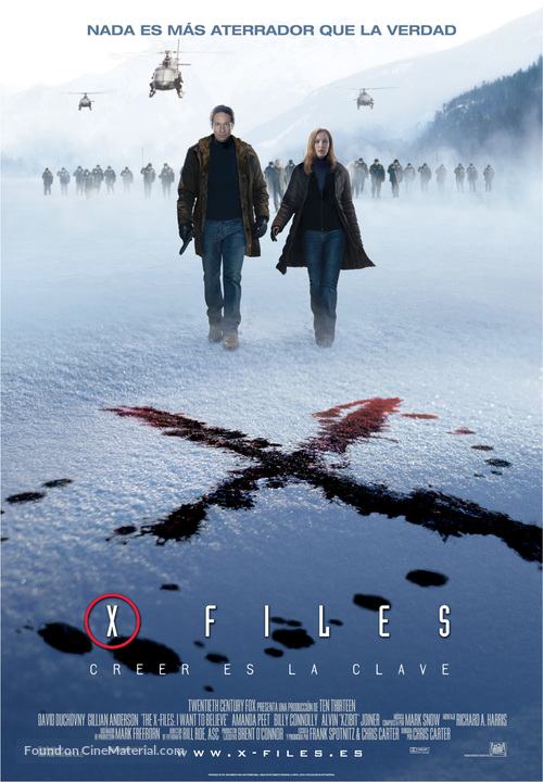 The X Files: I Want to Believe - Spanish Movie Poster