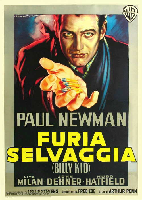 The Left Handed Gun - Italian Movie Poster