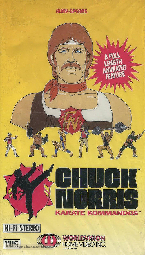 """Chuck Norris: Karate Kommandos"" - VHS movie cover"