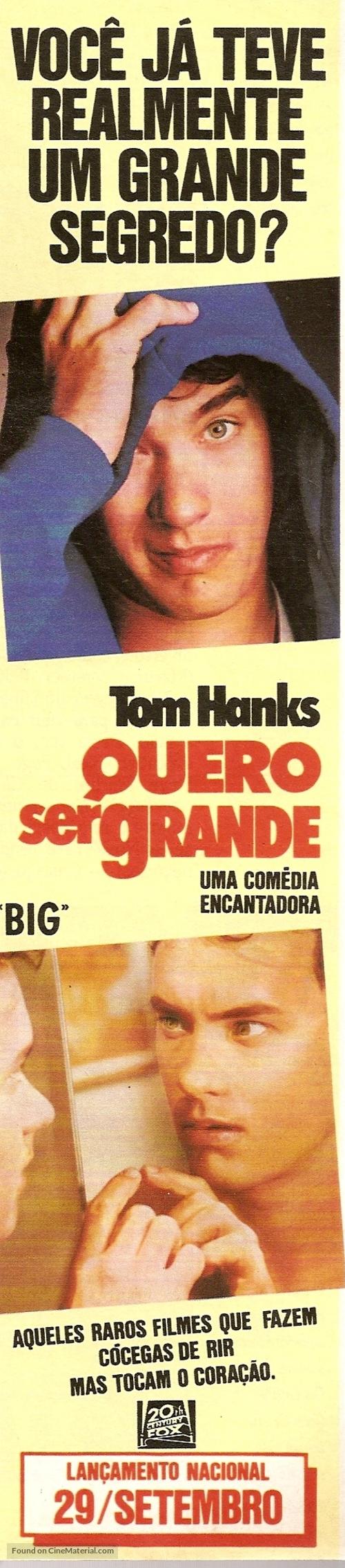 Big - Brazilian Movie Poster