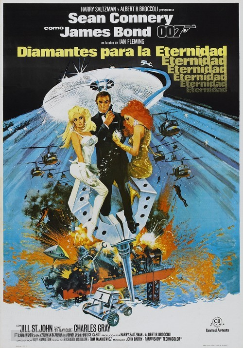 Diamonds Are Forever - Spanish Theatrical movie poster