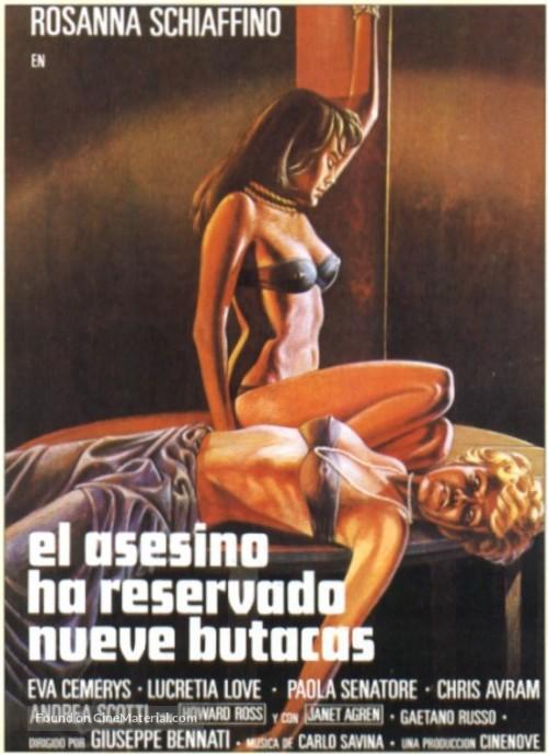 L'assassino ha riservato nove poltrone - Spanish Movie Poster