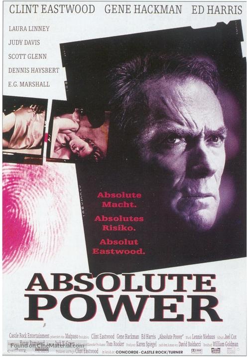 Absolute Power - German Movie Poster