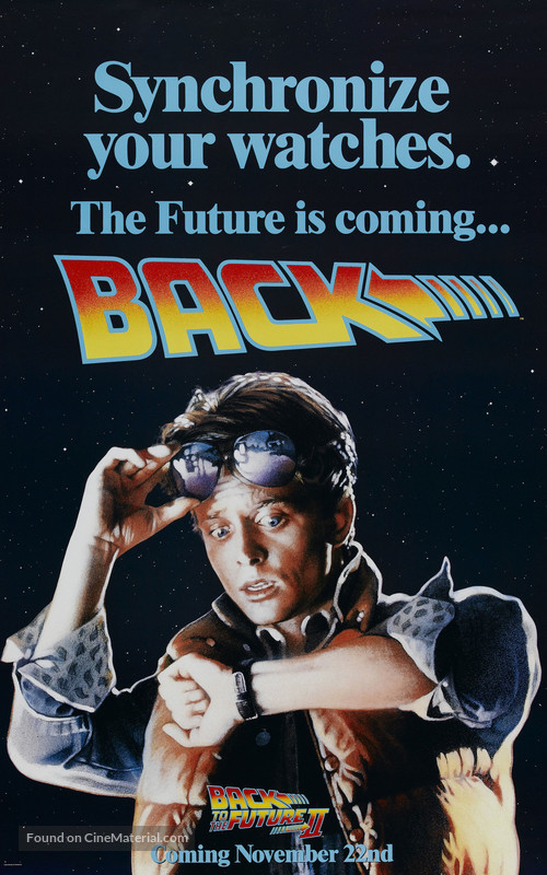Back to the Future Part II - Advance movie poster