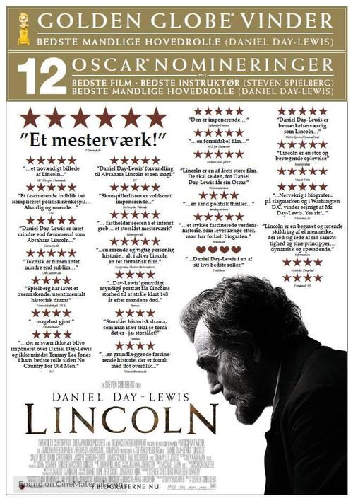 Lincoln - Danish Movie Poster