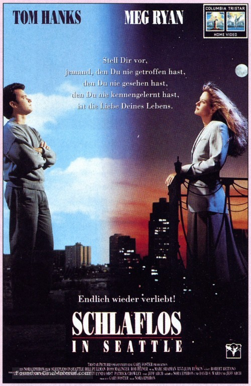 Sleepless In Seattle 1993 German Vhs Movie Cover