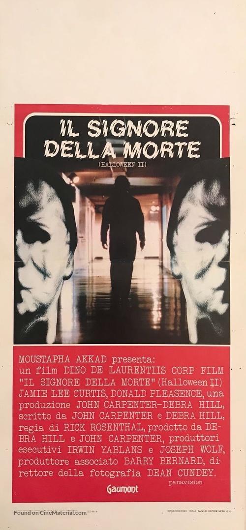 Halloween II - Italian Movie Poster