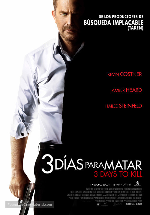 3 Days to Kill - Chilean Movie Poster