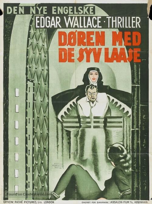 The Door with Seven Locks - Danish Movie Poster