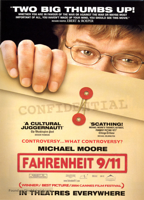 fahrenheit 9 11 essay Essay about events of 9/11 during the months after the events of september 11, 2001, i remember staying out to sea as a sailor for extended periods of time.