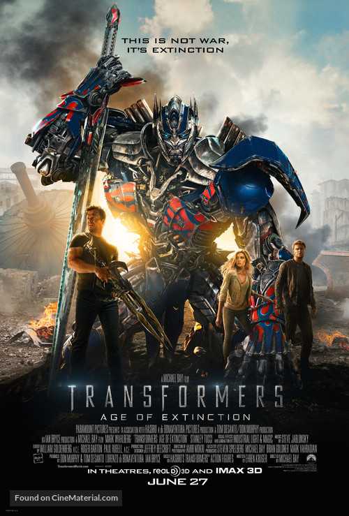 Transformers: Age of Extinction - Theatrical poster