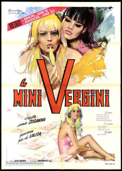 Salut les copines - Italian Movie Poster
