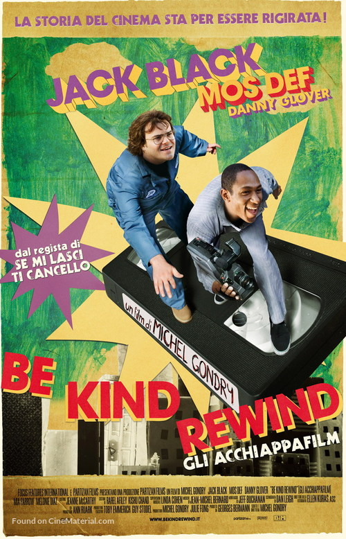 Be Kind Rewind - Italian Movie Poster