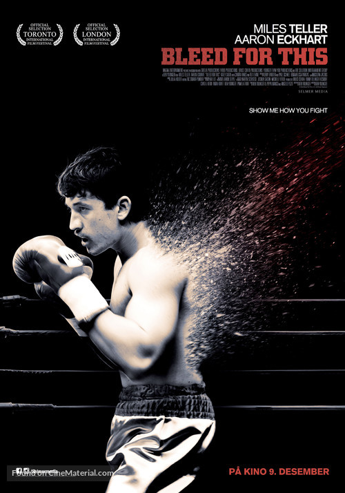 Bleed for This - Norwegian Movie Poster