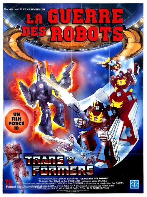 The Transformers: The Movie - French Movie Poster
