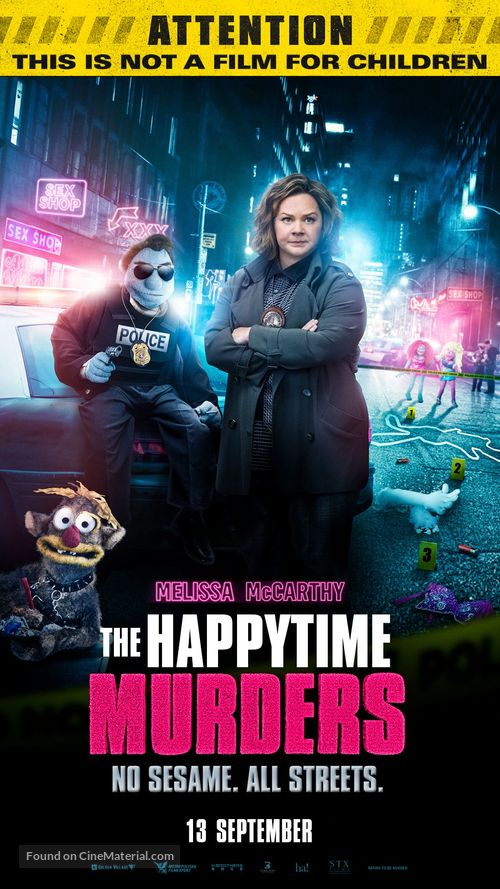 The Happytime Murders - Singaporean Movie Poster