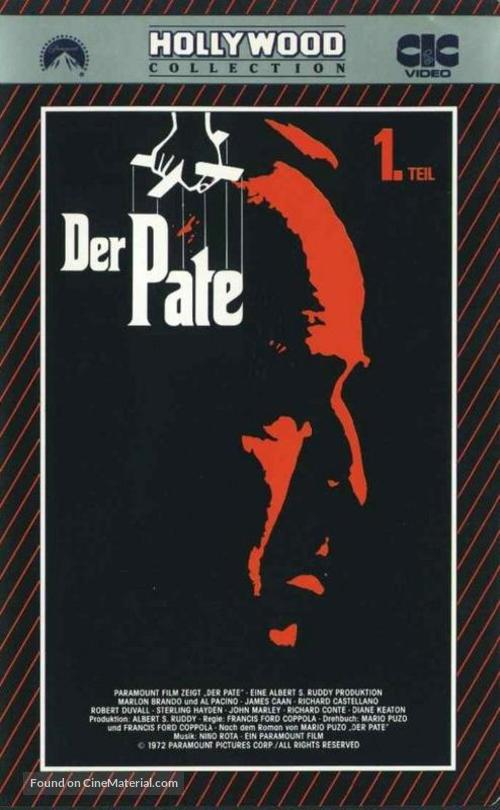 The Godfather - German VHS movie cover