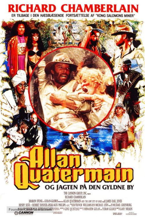 Allan Quatermain and the Lost City of Gold - Danish Movie Poster