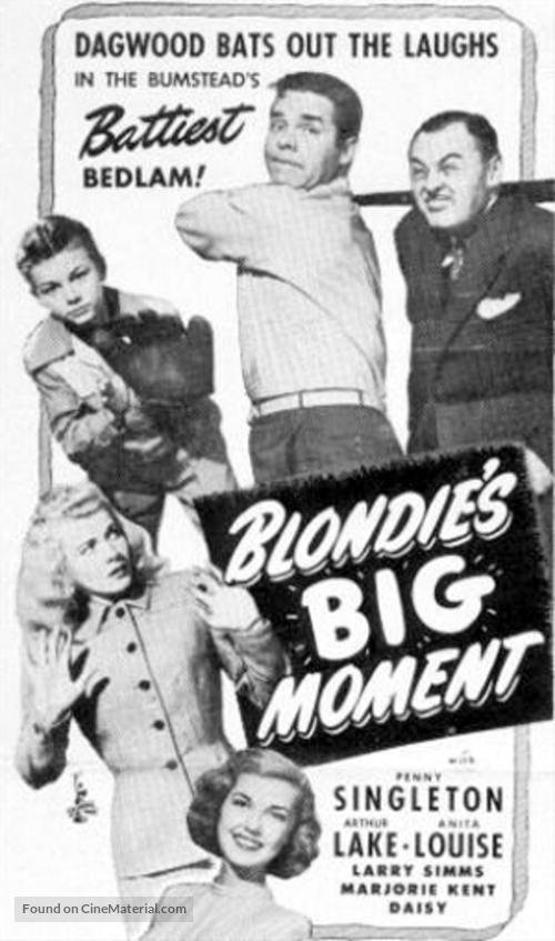 Blondie's Big Moment - poster