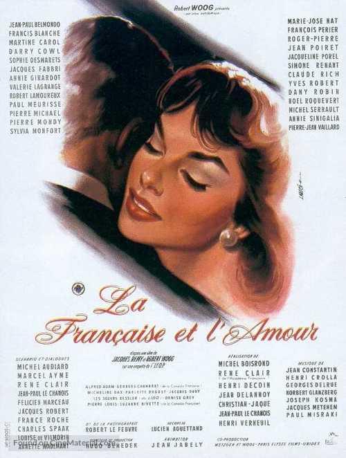 La française et l'amour - French Movie Poster