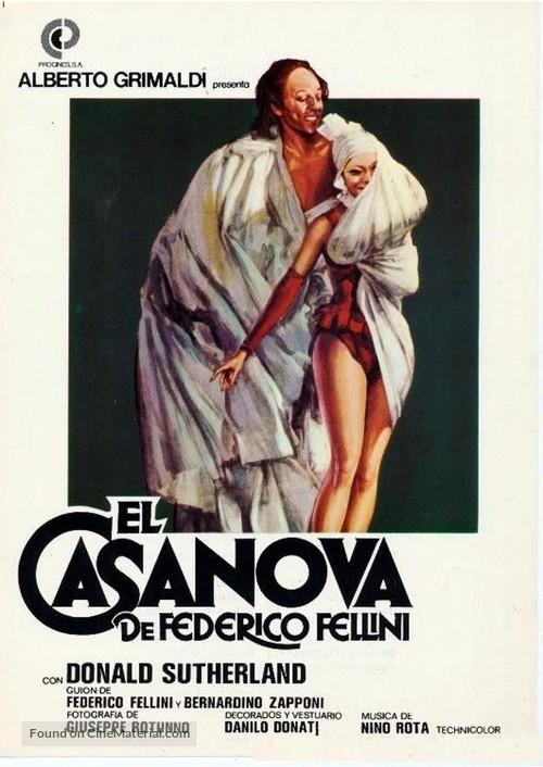 Il Casanova di Federico Fellini - Spanish Movie Poster