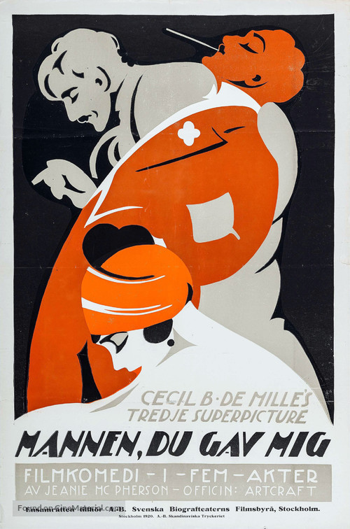 Don't Change Your Husband - Swedish Movie Poster