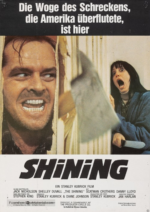 The Shining - German Movie Poster