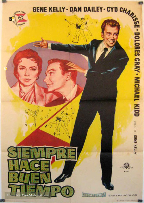 It's Always Fair Weather - Spanish Movie Poster