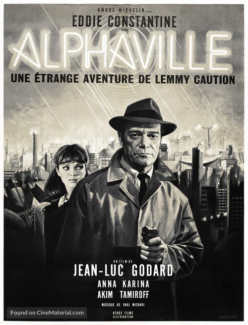 Alphaville, une étrange aventure de Lemmy Caution - French Movie Poster